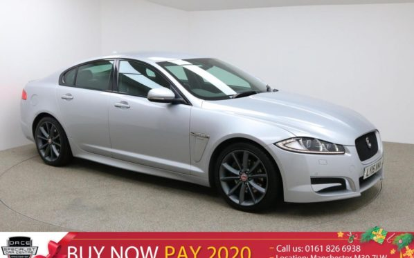 Used 2015 SILVER JAGUAR XF Saloon 2.2 D R-SPORT 4d AUTO 200 BHP (reg. 2015-07-23) for sale in Manchester