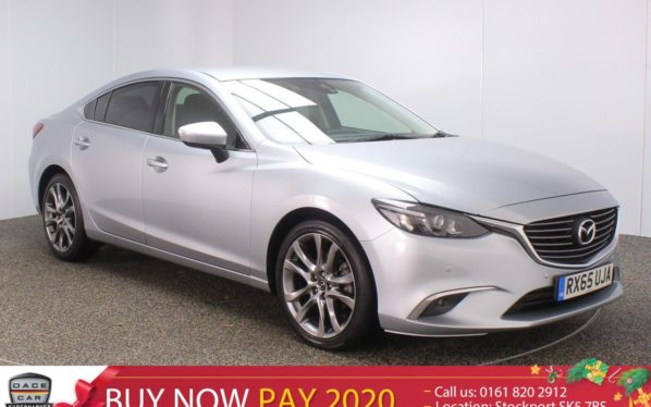 Used 2015 SILVER MAZDA 6 Saloon 2.2 D SPORT NAV REAR CAM HEATED LEATHER 1 OWNER 148 BHP (reg. 2015-10-12) for sale in Stockport