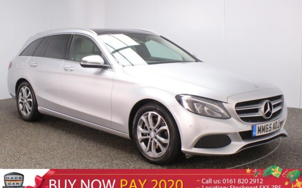 Used 2015 SILVER MERCEDES-BENZ C CLASS Estate 2.1 C300 H SPORT PREMIUM PLUS PAN ROOF SAT NAV LEATHER 5DR 204 BHP (reg. 2015-11-06) for sale in Stockport