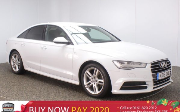Used 2015 WHITE AUDI A6 Saloon 2.0 TDI ULTRA S LINE 4DR SAT NAV LEATHER SEATS 1 OWNER 188 BHP (reg. 2015-08-21) for sale in Stockport