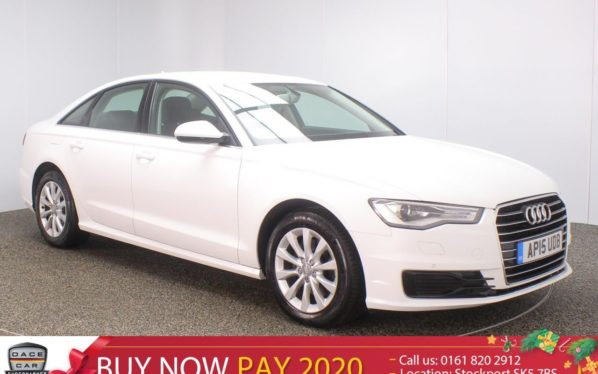 Used 2015 WHITE AUDI A6 Saloon 2.0 TDI ULTRA SE 4DR AUTO SAT NAV LEATHER SEATS 1 OWNER 188 BHP (reg. 2015-07-31) for sale in Stockport