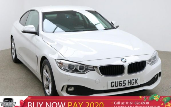 Used 2015 WHITE BMW 4 SERIES Coupe 2.0 420D SE 2d AUTO 188 BHP (reg. 2015-10-05) for sale in Manchester