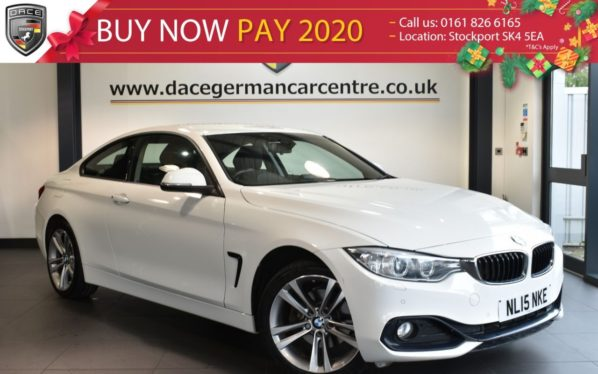Used 2015 WHITE BMW 4 SERIES Coupe 2.0 420D XDRIVE SPORT 2DR AUTO 181 BHP excellent service history (reg. 2015-03-20) for sale in Bolton