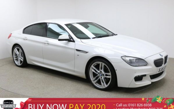 Used 2015 WHITE BMW 6 SERIES GRAN COUPE Coupe 3.0 640D M SPORT GRAN COUPE 4d AUTO 309 BHP (reg. 2015-03-01) for sale in Manchester