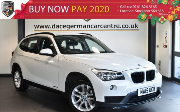 Used 2015 WHITE BMW X1 Estate 2.0 XDRIVE18D SPORT 5DR 141 BHP full service history (reg. 2015-03-19) for sale in Bolton