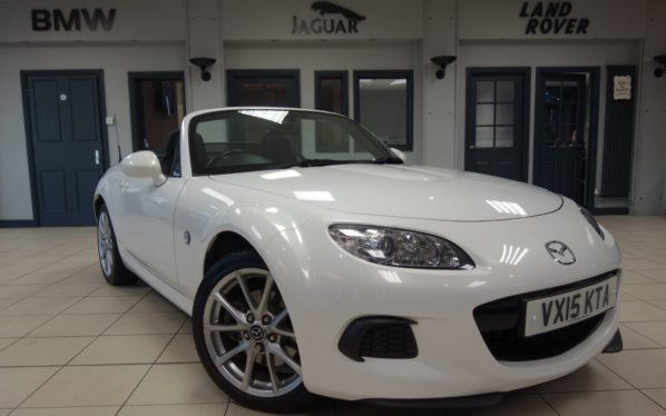 Used 2015 WHITE MAZDA MX-5 Convertible 1.8 I SE 2d 125 BHP (reg. 2015-04-02) for sale in Hazel Grove
