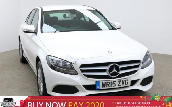 Used 2015 WHITE MERCEDES-BENZ C CLASS Saloon 2.1 C300 BLUETEC HYBRID SE EXECUTIVE 4d AUTO 204 BHP (reg. 2015-05-21) for sale in Manchester