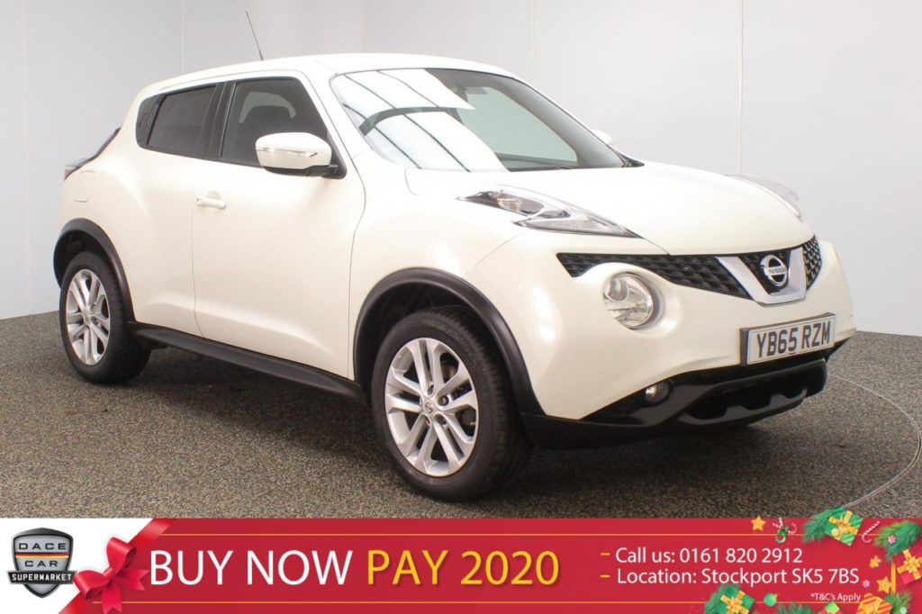Used 2015 WHITE NISSAN JUKE Hatchback 1.2 ACENTA PREMIUM DIG-T 5DR SAT NAV 115 BHP (reg. 2015-11-27) for sale in Stockport