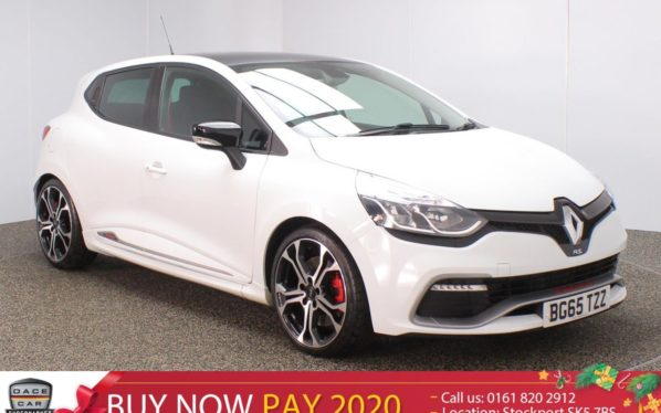 Used 2015 WHITE RENAULT CLIO Hatchback 1.6 RENAULTSPORT NAV TROPHY 5DR AUTO SAT NAV 220 BHP (reg. 2015-10-31) for sale in Stockport