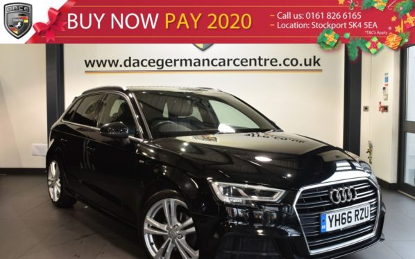 Used 2016 BLACK AUDI A3 Hatchback 1.4 TFSI S LINE 5DR 148 BHP full service history (reg. 2016-10-31) for sale in Bolton