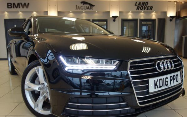 Used 2016 BLACK AUDI A7 Hatchback 3.0 SPORTBACK TDI ULTRA SE EXECUTIVE 5d AUTO 215 BHP (reg. 2016-07-30) for sale in Hazel Grove