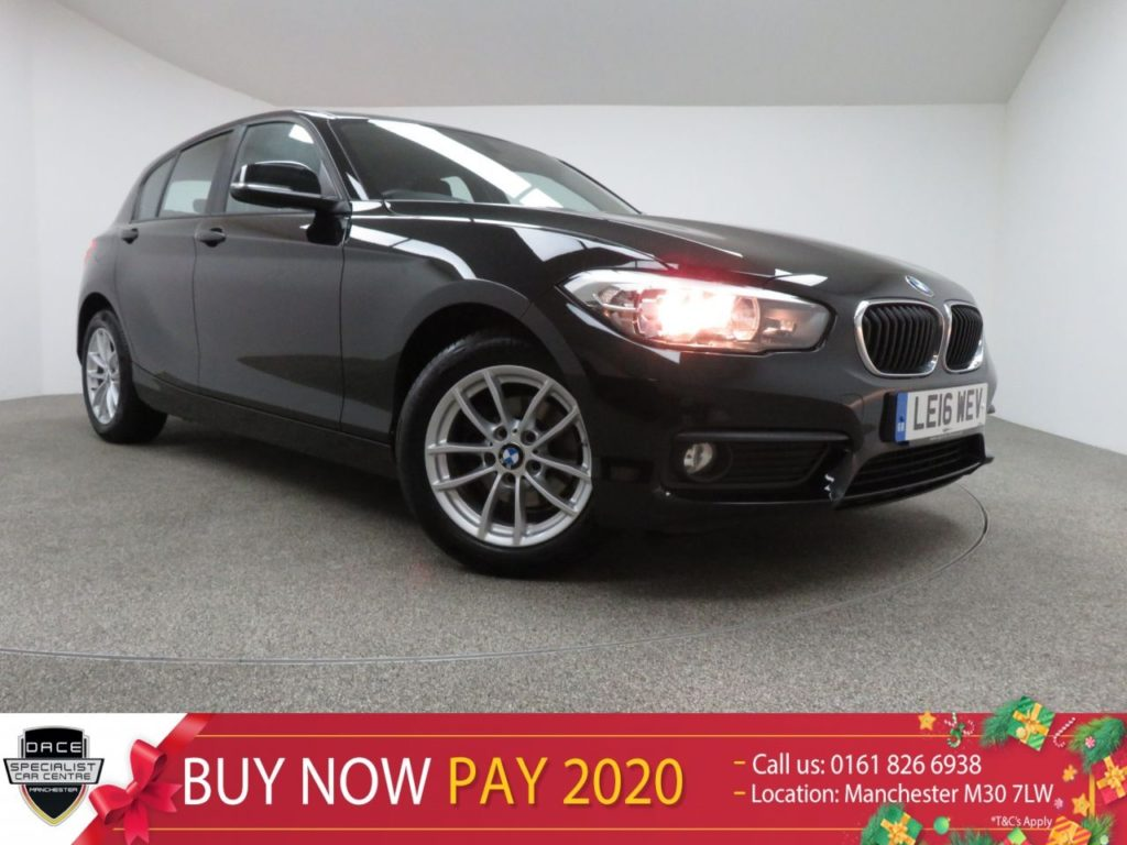 Used 2016 BLACK BMW 1 SERIES Hatchback 1.5 116D SE 5d AUTO 114 BHP (reg. 2016-07-21) for sale in Manchester