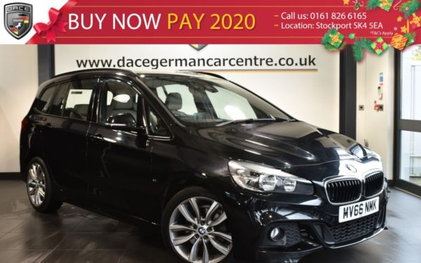 Used 2016 BLACK BMW 2 Series GRAN TOURER MPV 2.0 218D M SPORT GRAN TOURER 5DR 7SEATS AUTO 148 BHP full service history (reg. 2016-09-20) for sale in Bolton