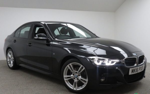 Used 2016 BLACK BMW 3 SERIES Saloon 2.0 320I M SPORT 4d 181 BHP (reg. 2016-03-02) for sale in Manchester