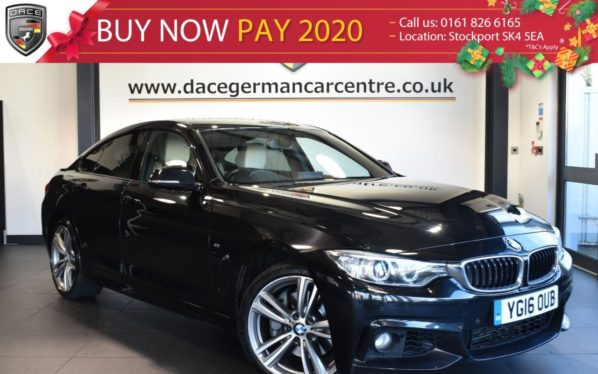 Used 2016 BLACK BMW 4 SERIES GRAN COUPE Coupe 3.0 435D XDRIVE M SPORT  4DR AUTO 309 BHP full bmw service history (reg. 2016-04-25) for sale in Bolton