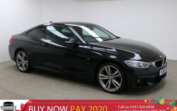 Used 2016 BLACK BMW 4 SERIES Coupe 2.0 420D XDRIVE M SPORT 2d AUTO 188 BHP (reg. 2016-11-05) for sale in Manchester