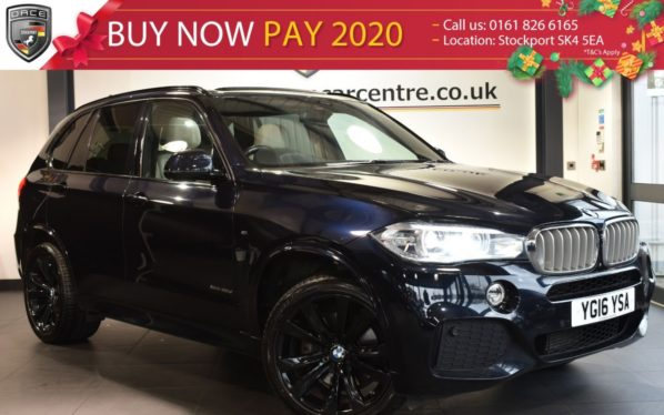 Used 2016 BLACK BMW X5 Estate 3.0 XDRIVE40D M SPORT 5DR 7SEATS AUTO 309 BHP (reg. 2016-04-21) for sale in Bolton