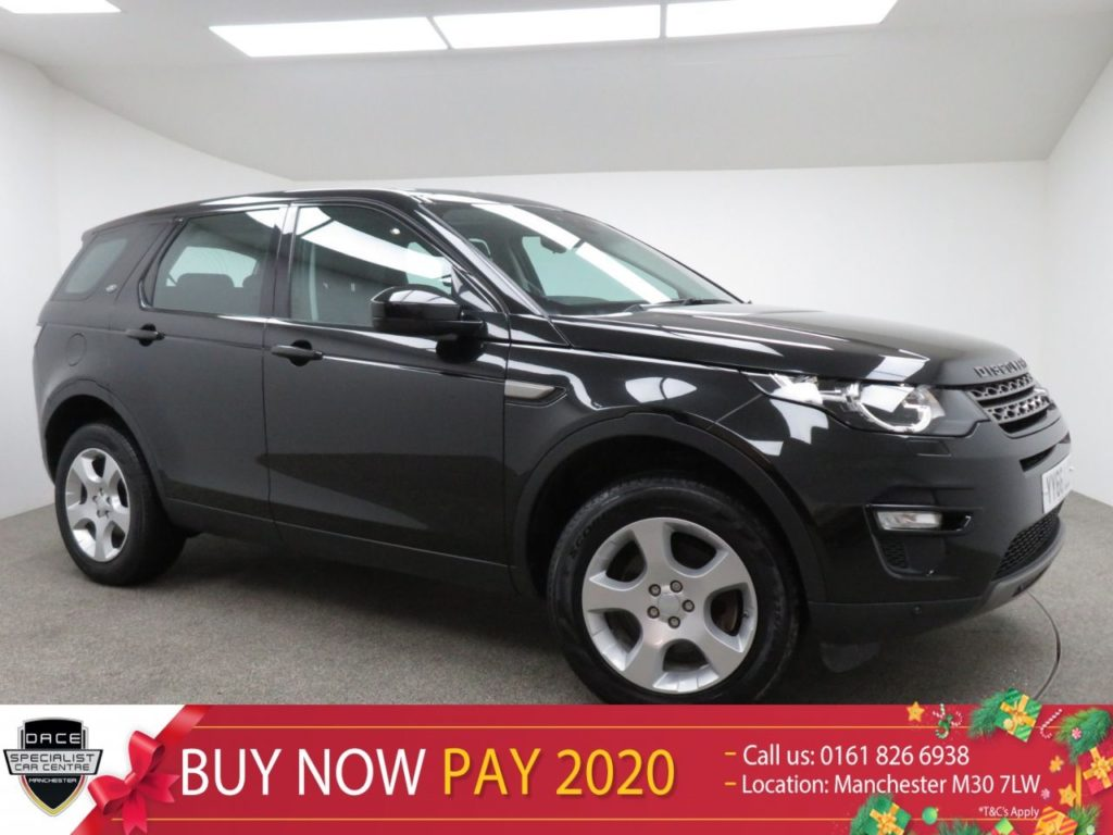 Used 2016 BLACK LAND ROVER DISCOVERY SPORT Estate 2.0 TD4 SE TECH 5d 150 BHP (reg. 2016-11-04) for sale in Manchester