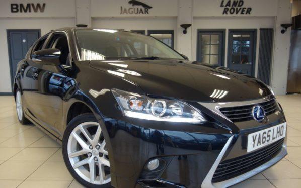 Used 2016 BLACK LEXUS CT Hatchback 1.8 200H ADVANCE 5d AUTO 134 BHP (reg. 2016-12-30) for sale in Hazel Grove