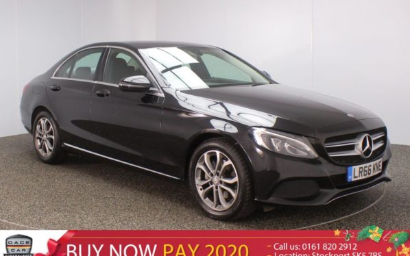 Used 2016 BLACK MERCEDES-BENZ C CLASS Saloon 2.1 C220 D SPORT SAT NAV HEATED LEATHER SEATS 1 OWNER 4DR 170 BHP (reg. 2016-09-21) for sale in Stockport