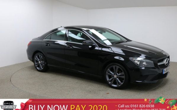 Used 2016 BLACK MERCEDES-BENZ CLA Coupe 2.1 CLA200 CDI SPORT 4d 136 BHP (reg. 2016-11-04) for sale in Manchester