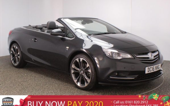 Used 2016 BLACK VAUXHALL CASCADA Convertible 1.6 ELITE 2DR AUTO HEATED LEATHER SEATS 1 OWNER 170 BHP (reg. 2016-08-05) for sale in Stockport