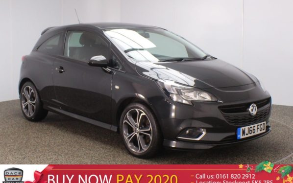 Used 2016 BLACK VAUXHALL CORSA Hatchback 1.4 BLACK EDITION S/S 3DR 148 BHP (reg. 2016-09-12) for sale in Stockport