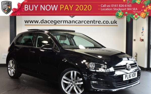 Used 2016 BLACK VOLKSWAGEN GOLF Hatchback 1.4 GT EDITION TSI ACT BMT 5DR 148 BHP full service history (reg. 2016-07-29) for sale in Bolton