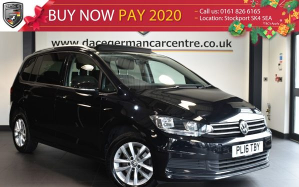 Used 2016 BLACK VOLKSWAGEN TOURAN MPV 1.6 SE FAMILY TDI BLUEMOTION TECHNOLOGY 5DR 7SEATS 114 BHP full service history (reg. 2016-07-29) for sale in Bolton