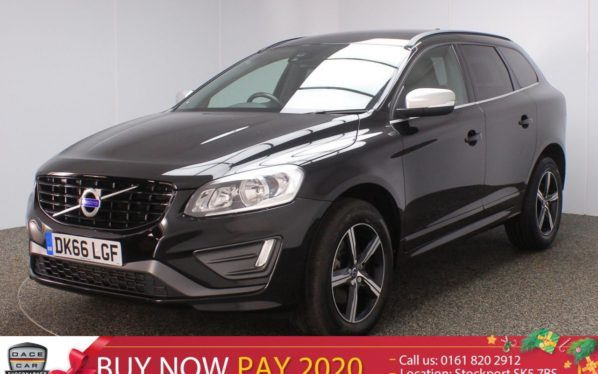 Used 2016 BLACK VOLVO XC60 Estate 2.0 D4 R-DESIGN NAV 5DR 1 OWNER 188 BHP (reg. 2016-09-30) for sale in Stockport