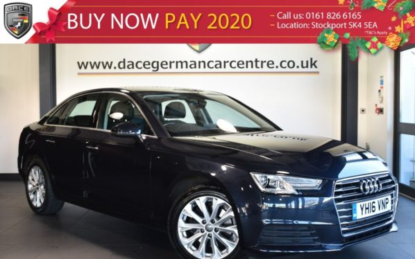 Used 2016 BLUE AUDI A4 Saloon 2.0 TFSI SE 4DR AUTO 188 BHP full service history (reg. 2016-05-27) for sale in Bolton