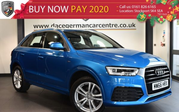 Used 2016 BLUE AUDI Q3 Estate 1.4 TFSI S LINE NAVIGATION 5DR 148 BHP full service history (reg. 2016-11-25) for sale in Bolton