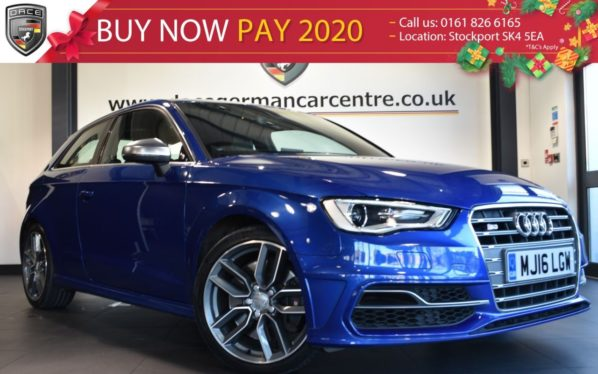 Used 2016 BLUE AUDI S3 Hatchback 2.0 S3 QUATTRO NAV 3DR AUTO 296 BHP full audi service history (reg. 2016-04-20) for sale in Bolton