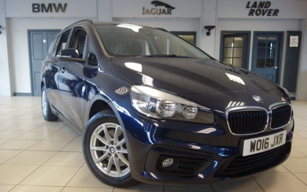 Used 2016 BLUE BMW 2 Series GRAN TOURER MPV 2.0 218D SE GRAN TOURER 5d AUTO 148 BHP (reg. 2016-08-19) for sale in Hazel Grove