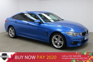 Used 2016 BLUE BMW 4 SERIES Coupe 2.0 420D XDRIVE M SPORT GRAN COUPE 4d AUTO 188 BHP (reg. 2016-03-07) for sale in Manchester