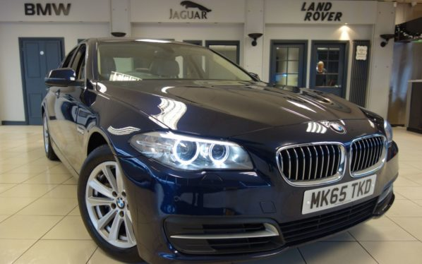 Used 2016 BLUE BMW 5 SERIES Saloon 3.0 530D SE 4d AUTO 255 BHP (reg. 2016-09-18) for sale in Hazel Grove