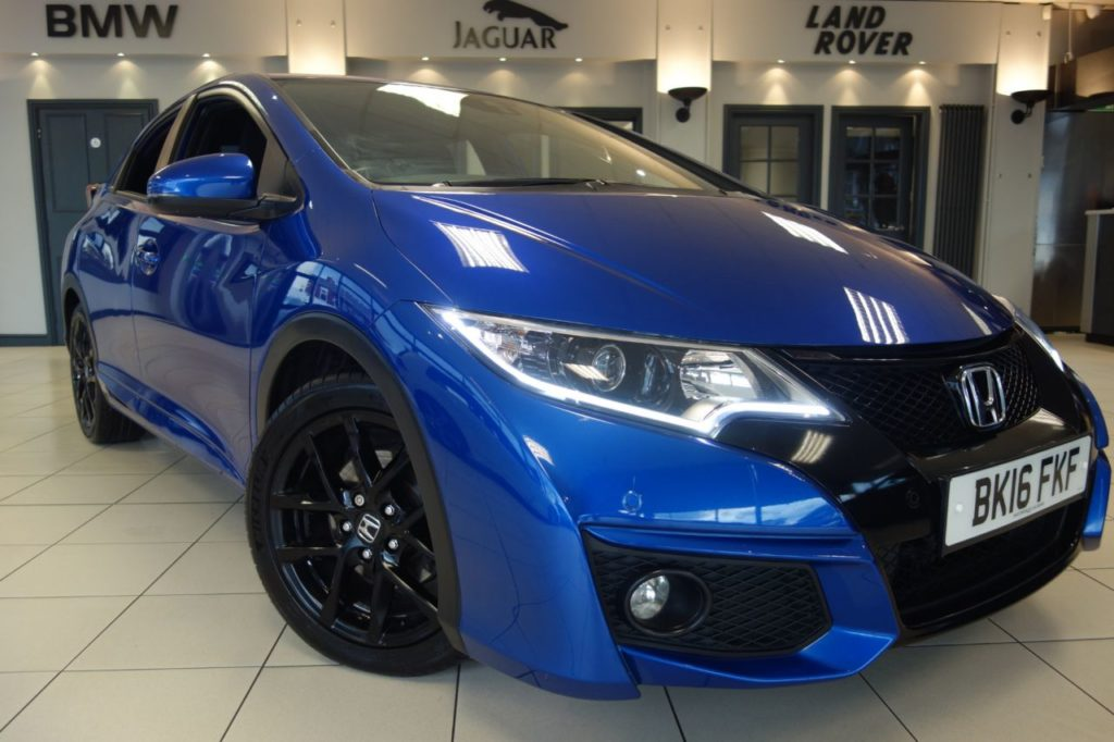 Used 2016 BLUE HONDA CIVIC Hatchback 1.6 I-DTEC SPORT NAV 5d 118 BHP (reg. 2016-04-04) for sale in Hazel Grove
