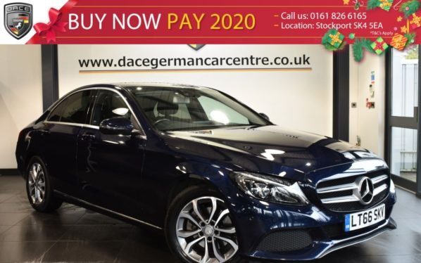 Used 2016 BLUE MERCEDES-BENZ C CLASS Saloon 2.1 C220 D SPORT 4DR 170 BHP full service history (reg. 2016-10-06) for sale in Bolton