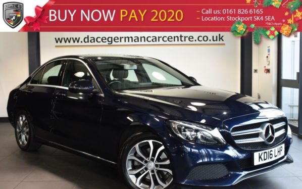 Used 2016 BLUE MERCEDES-BENZ C CLASS Saloon 2.1 C220 D SPORT 4DR AUTO 170 BHP FULL MERCEDES SERVICE HISTORY (reg. 2016-08-19) for sale in Bolton