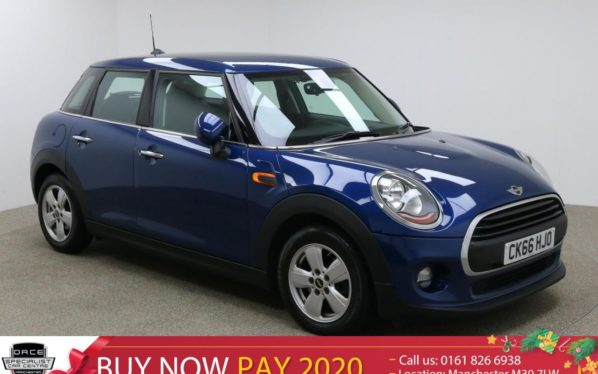 Used 2016 BLUE MINI HATCH ONE Hatchback 1.2 ONE 5d 101 BHP (reg. 2016-11-07) for sale in Manchester