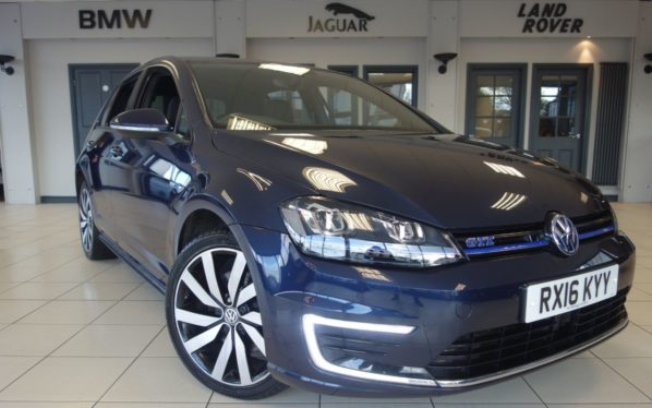 Used 2016 BLUE VOLKSWAGEN GOLF Hatchback 1.4 GTE 5d 150 BHP (reg. 2016-07-18) for sale in Hazel Grove