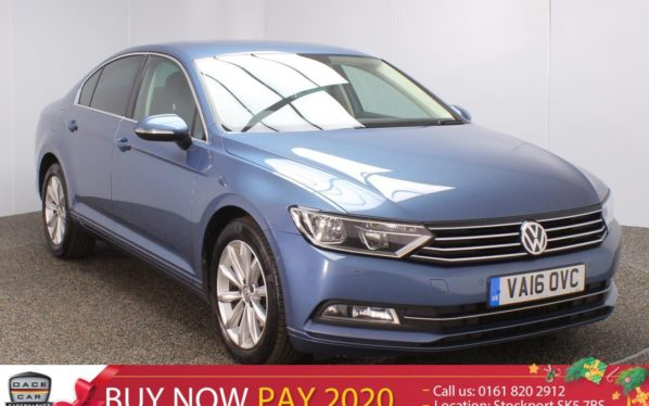 Used 2016 BLUE VOLKSWAGEN PASSAT Saloon 1.6 SE BUSINESS TDI BLUEMOTION TECH DSG 4DR AUTO SAT NAV 1 OWNER 119 BHP (reg. 2016-07-21) for sale in Stockport