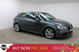 Used 2016 GREY AUDI A3 Hatchback 1.6 TDI S LINE NAV 5d AUTO 109 BHP (reg. 2016-04-20) for sale in Manchester