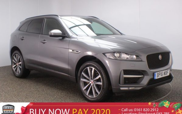 Used 2016 GREY JAGUAR F-PACE Estate 2.0 R-SPORT AWD 5DR 1 OWNER 178 BHP (reg. 2016-07-27) for sale in Stockport