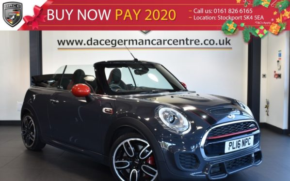Used 2016 GREY MINI CONVERTIBLE Convertible 2.0 JOHN COOPER WORKS 2DR 228 BHP full service history (reg. 2016-07-31) for sale in Bolton