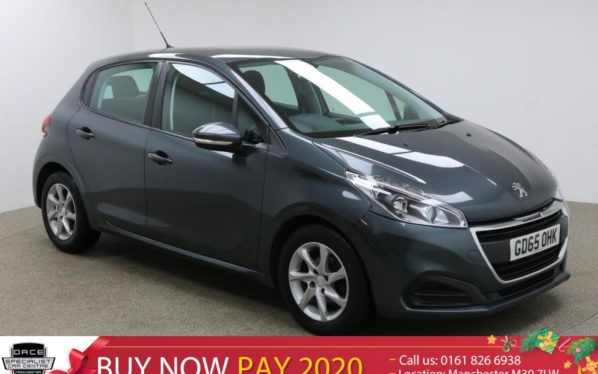 Used 2016 GREY PEUGEOT 208 Hatchback 1.6 BLUE HDI ACTIVE 5d 75 BHP (reg. 2016-01-21) for sale in Manchester