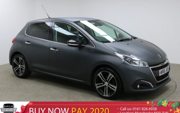 Used 2016 GREY PEUGEOT 208 Hatchback 1.6 BLUE HDI GT LINE 5d 100 BHP (reg. 2016-05-31) for sale in Manchester