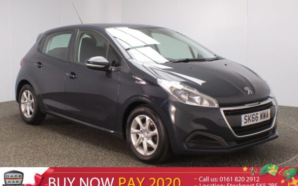 Used 2016 GREY PEUGEOT 208 Hatchback 1.6 BLUE HDI S/S ACTIVE 5DR 75 BHP (reg. 2016-09-26) for sale in Stockport