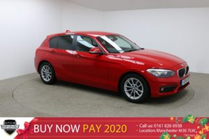 Used 2016 RED BMW 1 SERIES Hatchback 1.5 116D ED PLUS 5d 114 BHP (reg. 2016-06-17) for sale in Manchester