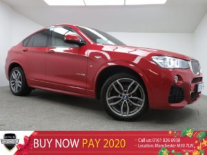 Used 2016 RED BMW X4 Coupe 3.0 XDRIVE35D M SPORT 4d AUTO 309 BHP (reg. 2016-05-06) for sale in Manchester